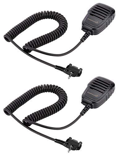 2 Pack Compact Speaker Mics with Reinforced Cable for Motorola Vertex Radios VX-210 VX-231 VX-261 VX-264 VX-351 VX-354 VX-424 VX-451 VX-454 VX-459 EVX-261 EVX-531 EVX-534 EVX-539, Shoulder Microphone