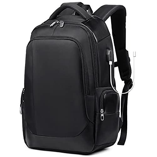 Houozon Reise-Laptop-Rucksack mit USB-Ladehafen, 15.6in Computer Business-Rucksäcke, wasserabweisender Rucksack für Männer/Frauen Casual/Schulgeschenk Rucksack,M,One Size