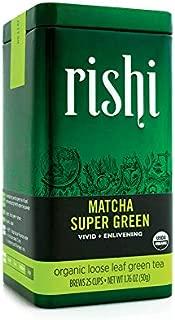 Rishi Tea Matcha Super Green Tea - Organic Loose Leaf Tea - 1.76 Oz Tin
