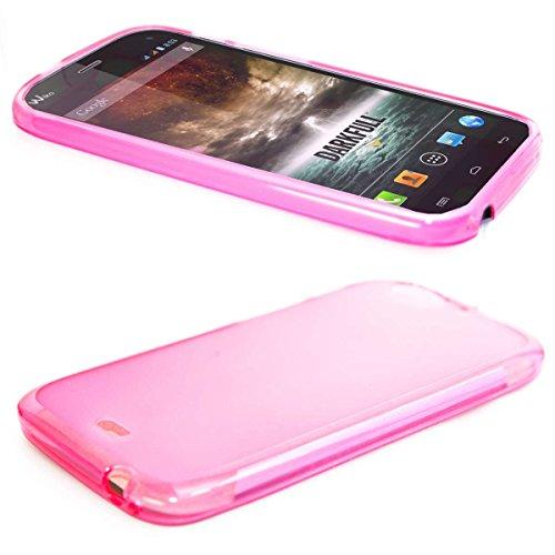 caseroxx TPU-Hülle für Wiko Darkfull, Handy Hülle Tasche (TPU-Hülle in pink)