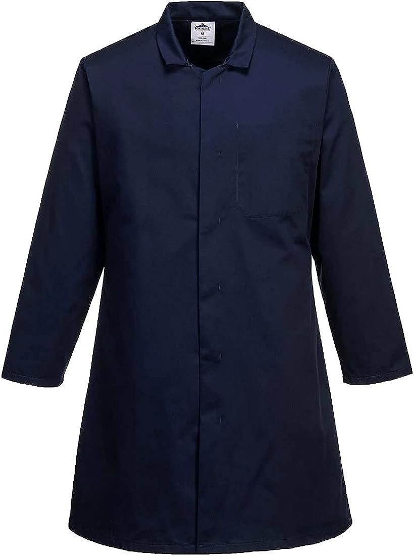 Portwest Workwear Mens Mens Food Coat One Pocket