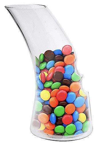 Cuisivin Snak Carafe Small Snack Dispenser, 10 oz, Clear