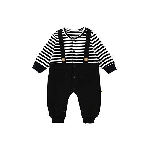 AIKSSOO Pasgeboren Baby Jongens Stripe Band Baby Jumpsuit 2019 Herfst Winter Denim Baby Romper Outfits