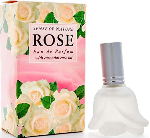 White Rose Eau de Parfum für Frauen von Aroma Essence, Love White Rose Duft des bulgarischen Tals der Rosen, romantisches Parfüm, angereichert mit Rosenöl und weißen Blumen, 12 ml