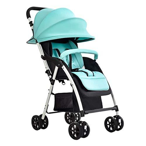 Upgrade Triciclo Triciclo para niños Cochecito de bebé Niño ultraligero Portátil Sit Lay Invierno y verano Cochecito de bebé plegable simple Paraguas de 4 ruedas para bebé Triciclo de bebé Silla de em