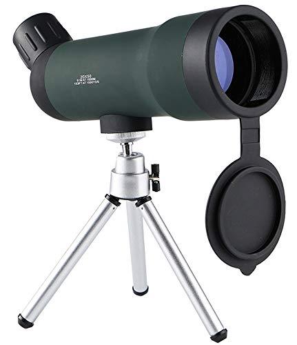 Telescopio monocular 20 x 50 zoom HD Caza Spotting Alcance con trípode portátil Regalos para adultos para observación de aves al aire libre Caza senderismo camping viajes