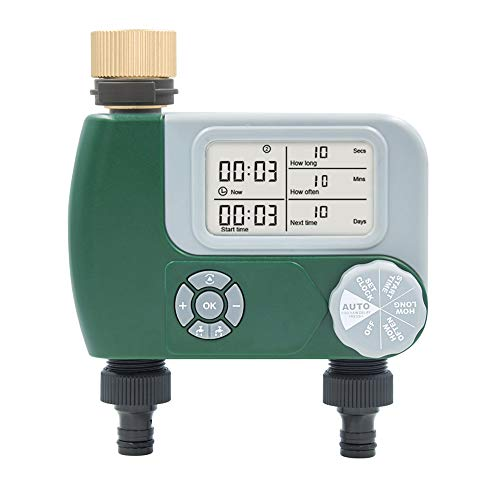 Haude Temporizador de Agua AutomáTico para JardíN Controlador de Riego Controlador de Rociadores VáLvula Programable Grifo de Manguera Temporizador de Riego