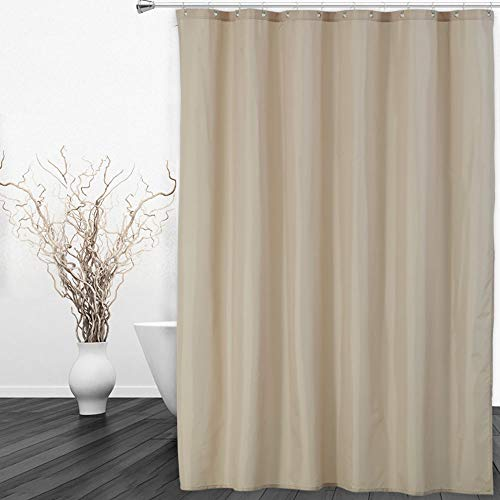 CAROMIO Hotel Quality 100% Waterproof Fabric Shower Curtain...
