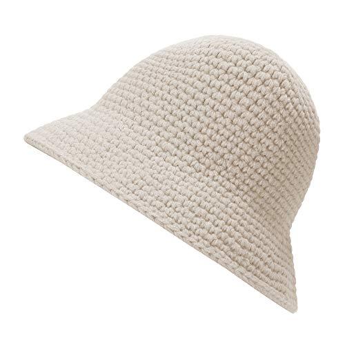 ZLYC - Gorro de invierno para mujer, color sólido, diseño de gorro de ganchillo
