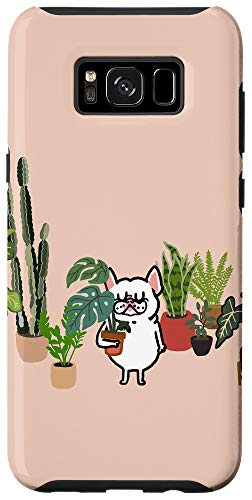 Galaxy S8+ Frenchie and Plants Case