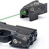 Tactical Green Laser Sights Ultra Low Profile Green Dot Laser Gun Sight for Pistols Handguns.Mini Size Lightweight Aluminium Shell fit Standard 21mm Picatinny Rail.Magnetic USB Rechargable