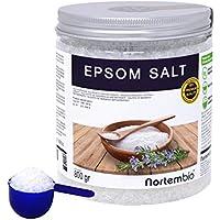 Nortembio Sal de Epsom 800 g. Fuente concentrada de Magnesio, Sales 100% Puras. Baño y Cuidado Personal. E-Book Incluido.