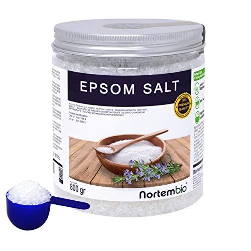 Nortembio Sal de Epsom 800 g. Fuente concentrada de Magnesio