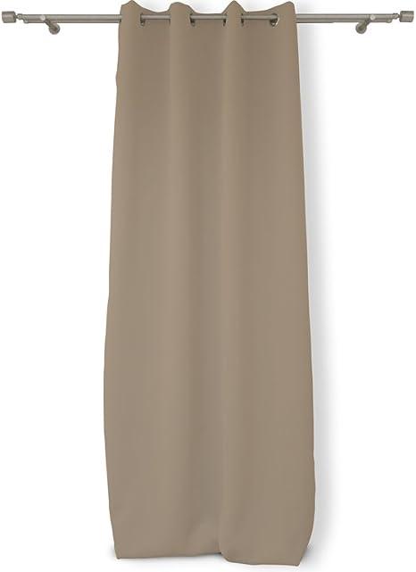 140 x 250 cm Avorio con occhielli inMetallo 034010 Soleil dOcre Tenda isolante e oscurante in poliestere