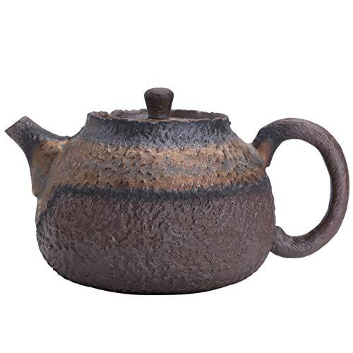 WANZSC Vintage de gres tetera de imitación piedra de té conjunto hecho a mano cerámica hervidor de té chino ceremonia suministros 210ml