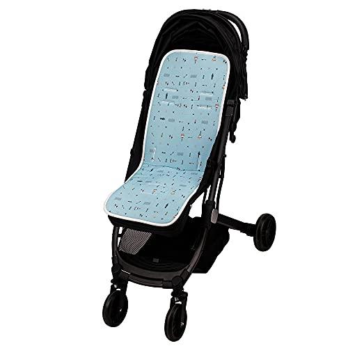 Colchoneta silla paseo universal transpirable de algodon (cabaña indio azul)