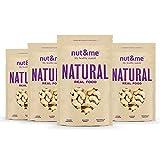 nut&me | Pack de Anacardos Enteros Naturales | Sin Sal | Sin Gluten | Vegano | (250g x 4 uds)