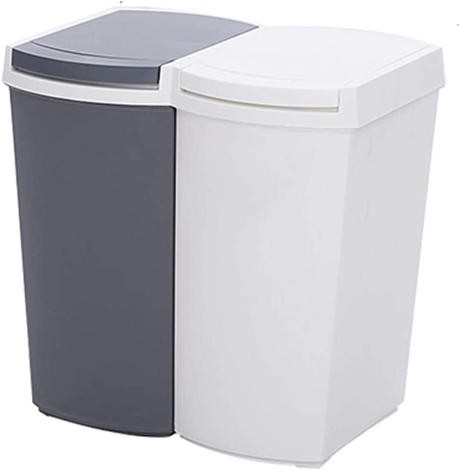 Double Plastic Direct sale of manufacturer Recycle Bins for Office 22L with 11L 2 Compartmen Reservation