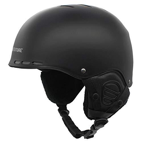 Casco de esquí para adultos, casco de nieve respirable con cubierta de orejas gruesas, casco de snowboard de tamaño general para hombres y mujeres