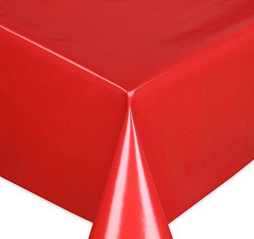 Wachstuchtischdecke Tischdecke Wachstuch abwischbar, Glatte Oberfläche Uni Motiv Rot, Farbe + Größe wählbar 100x140 cm