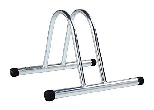 4BIKE AM005 SoporteBicicleta para Suelo, Individual, Modular, galvanizado, 36x 37x 27cm.