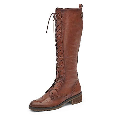 Gabor Damen Elegante Stiefel, Frauen Stiefel, Boots schnürstiefel,Caramello (Effekt),36 EU / 3.5 UK