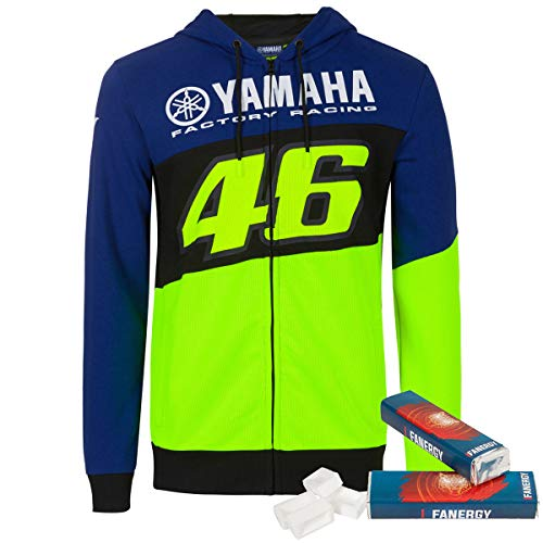 Valentino Rossi Yamaha Zip-Hoodie Racing Line Multicolor + 2X FANERGY Traubenzucker (XXL)