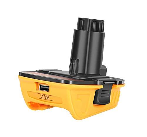 Battery Adapter Compatible with Dewalt 18V to 20V Convert DCA1820 18Volt Tools for 20V MAX Batteries DCB205 DCB206 DCB204 DCB203 DCB606 DCB609 with USB
