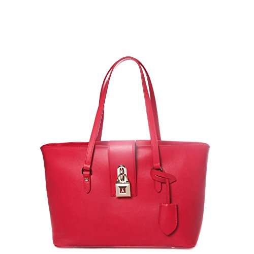 Patrizia Pepe borsa shopping media lucchetto 2V6085 AT78 R440 donna rosso
