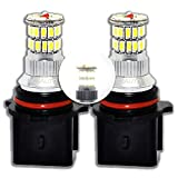 MCK Auto - Remplacement pour Ensemble d'ampoules blanches à LED CanBus P13W, très clair et sans erreur, compatible avec A4 Q5 CX-5