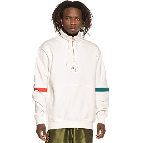 GRIMEY Sudadera Midnight Neck Sweatshirt SS19 White-XXL