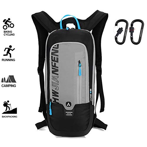 Yovanpur Bike Backpack, Waterproof Breathable Cycling Bicycle Rucksack, 10L Ultralight Mini Biking Daypack Sport Bags for Fitness Running Hiking Camping Climbing Skiing Biking Trekking (Grey)