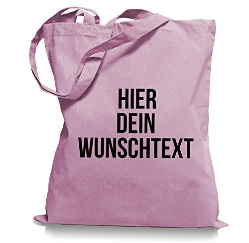 Stoffbeutel Jutebeutel mit Wunschtext/Selber gestalten mit dem Amazon T-Shirt Designer/Beutel Druck/Designertool Tragetasche/Bag/Jutebeutel WM1-classic_pink