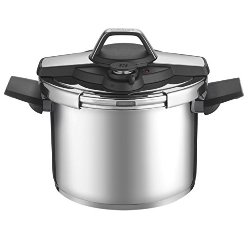 Cuisinart Professional Collection Stainless 6 Qt Pressure Cooker, Medium, Silver