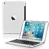 ONHI Coque avec clavier pour iPad Mini 5/Mini 4 sans fil en alliage de plastique Smart Folio Case...