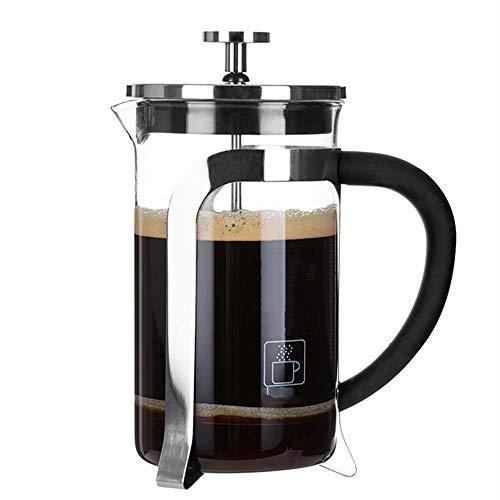 Vobajf Caffettiere a pistone Premere Il Vaso di Vetro a Mano Brew caffè Filtro casa French Press Tea Pot Manuale Filtro Tazza di tè e caffè cafetieres (Colore : Stainless Steel, Size : 350ml)