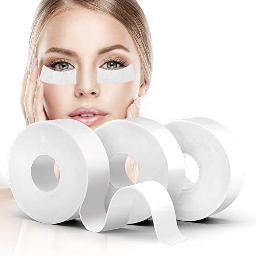 Lash Tape, Akissos 3 Rolls Medical Elastic Foam Tape Eyelash Extension Supplies Lash Pads Under Eye Patches Lint Free Hypoallergenic No Latex - 1 X 5.5 Yard