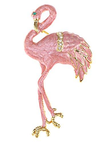 Alilang Perlado rosa esmalte salm¨®n pintado broche con forma de dise?o de...