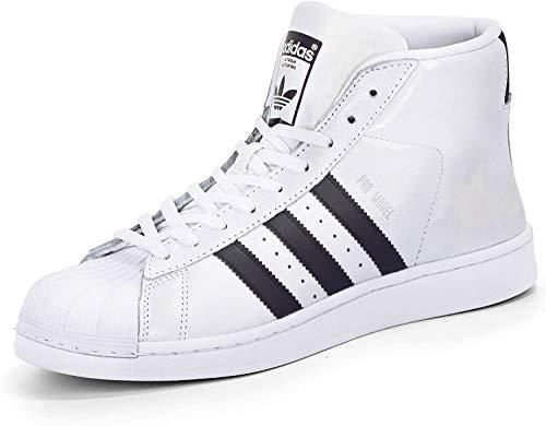 adidas Superstar Pro Model Zapatillas para hombre, blanco/negro, 12.5 UK - 48 EU