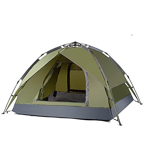 RUG Tienda de campaña portátil para exteriores para 3 personas, color verde militar, fácil de camuflaje, equipo de camping 2021/8/5 (color: verde militar)
