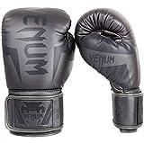 Venum Elite Guantes de Boxeo Gris Muay Thai MMA Combate Kick Boxing Entrenamiento Lucha Vendido por Minotaurfightstore - 10oz