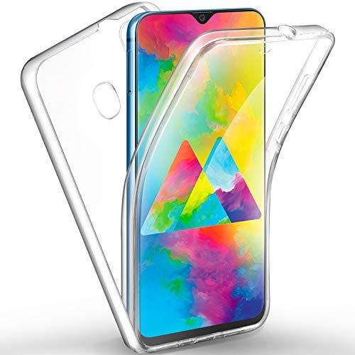 AROYI Samsung Galaxy M20 Hülle 360 Grad Handyhülle, Silikon Crystal Full Schutz Cover [2in1 Separat Hart PC Zurück + Weich TPU Vorderseite] Vorne & Hinten Schutzhülle für Samsung Galaxy M20