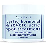 Ayadara Warrior One Cystic, Hormonal and Severe Acne Spot Treatment for Face and Body, Tea Tree Oil for Face, Back Acne Treatment for Men, Women, Daytime Use, 0.25 fl oz (7.4 ml)