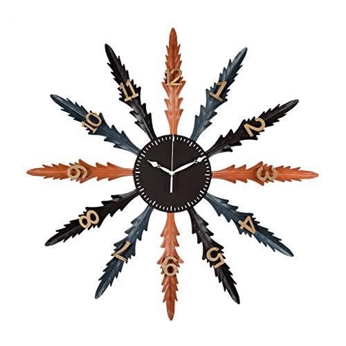 Reloj de Pared Reloj de Pared, Reloj, Metal, hogar, Arte Simple, Reloj de Pared, Tienda Decorativa, Reloj de Estilo Simple (Color : A)