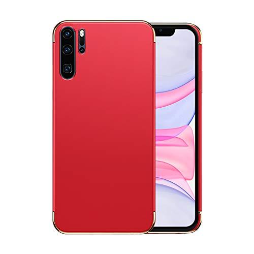 Funda Huawei P30/P30 Pro Case,Fundas Huawei P30/P30 Pro Antigolpes Carcasa Diseño Minimalista Estuche Rígido Ultra Original Delgado de PC a Prueba (Huawei P30 Pro, Rojo)
