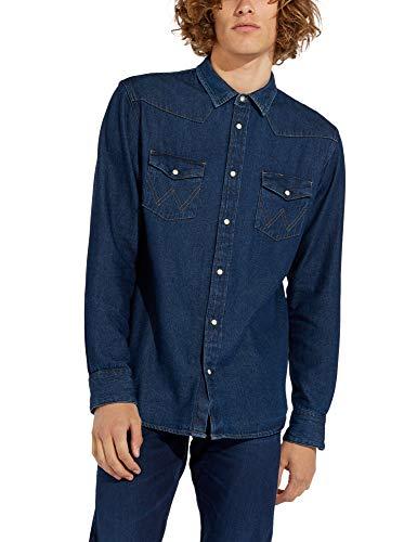 Wrangler Icons camisa, Azul (New 301), Small para Hombre