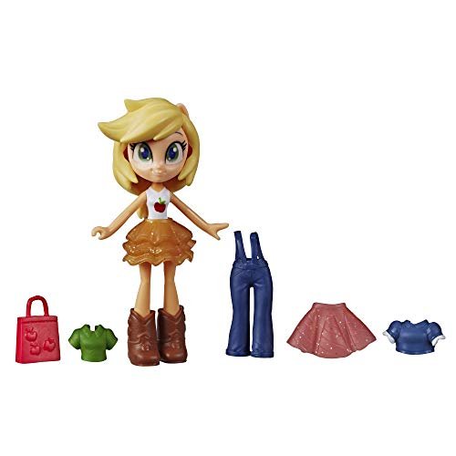 """My Little Pony Equestria Girls Fashion Squad Applejack, 3"""" Potion Mini Doll Toy with Outfit & Surprise Accessories for Kids 5 & Up"""