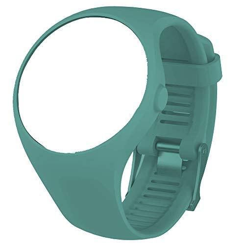 NingdeCK Correa de repuesto para Polar M200, correa de muñeca de silicona suave para reloj inteligente Polar M200, color verde azulado