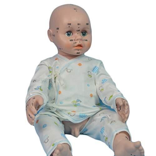 WJH Pädiatrische Massage Akupunkt Modell Neugeborenes Baby-Puppen für Kinder Spielzeug/Nursing Practice/Lehre/Fotografie