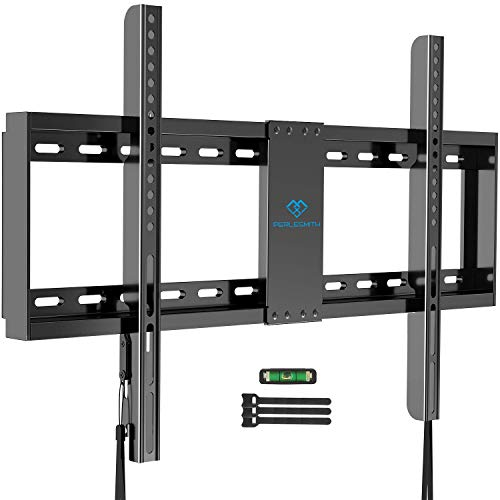"PERLESMITH Fixed TV Wall Mount Bracket Low Profile for 32-82 inch LED, LCD,and OLED Flat Screen TVs - Fits 16""- 24"" Wood Studs, Fix TV Mount with VESA 600 x 400mm Holds up to132lbs (PSLLK1). Buy it now for 19.99"
